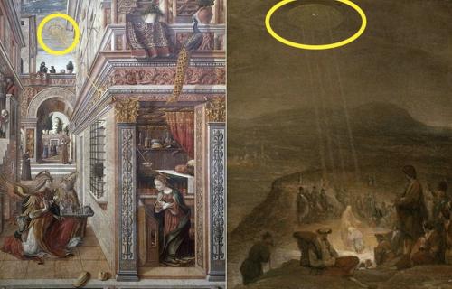 고대 작품에서 발견된 UFO와 외계인의 존재 톱10