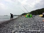 울산12경. 주전몽돌 해변의 아름다운 풍경. 캠핑이라면 주전몽돌