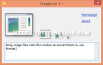 SimplyIcon - JPG, GIF, BMP, PNG 등의 이미지 파일 ICO 파일로 포멧 변환
