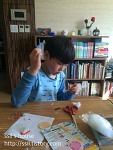 [160217]펠트로 만들기, 카드 쓰기