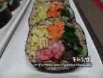 너무 맛있는 늦가을김밥, 무채김밥~