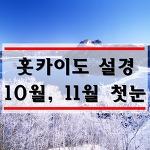 삿포로 10월 11월 날씨 : 북해도 홋카이도 첫눈은 언제?
