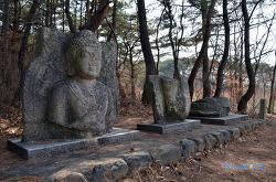 경주남산 입곡(삿갓골) 석불두