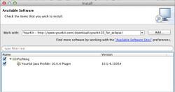 Profiling Java Application using YourKit (on Mac)