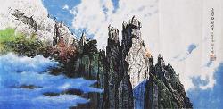 선우영님의 금강산 천녀봉작품 중의 유일한  '디테일 콤팩트화'