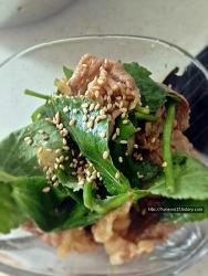 [참나물 차돌박이 샐러드] 고소한 봄의 향기. 참나물 차돌박이 샐러드