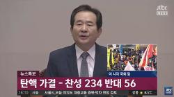 박근혜 탄핵 가결, 찬성 234표, 반대 56표, 기권 2표, 무표 7표
