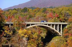 나루코 계곡의 가을, 고케시의 슬픈 전설 나루코 온천 마을