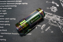 Olight S Mini Ti Rainbow PVD Flashlight