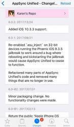 iOS 10.3.3 탈옥을 위한 AppSync Unified 호환 배포