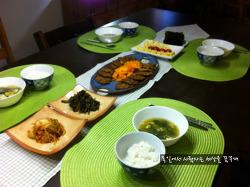 언제나 한식을 먹고 싶어하는 독일인 남편을 위한 저녁