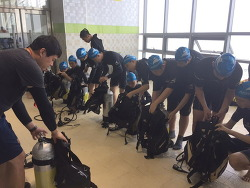한송중 레저스포츠 지원프로그램 '스쿠버 캠프' 참가