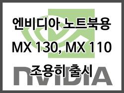 엔비디아 노트북용 지포스 MX 130, MX 110 출시