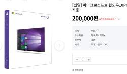 윈도우 10 프로 처음사용자용 20만원