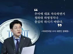 장제원, 추미애 대표는 청와대 하명정치나 충실히 하시길....