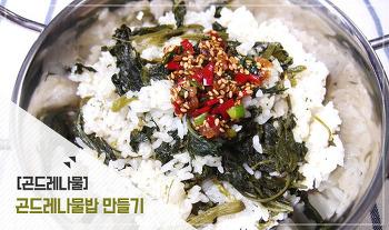 향이 좋은 곤드레나물밥 만들기, 곤드레밥 양념간장 만들기!