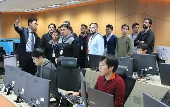 아르헨티나 ICT 담당 우수인재 연수단, SK인포섹 통합보안관제센터 방문