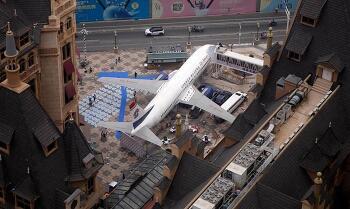 중국 우한에 비행기 레스토랑 오픈