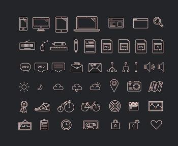 무료 심플 아이콘, 라인 아이콘 Othericons 1.0입니다.
