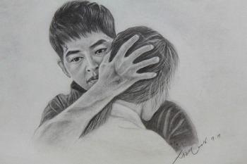 연필그림 그리기 - 송중기