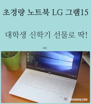 LG 그램 15 신학기 고성능 노트북 추천, 16GB 듀얼채널 업그레이드 가능