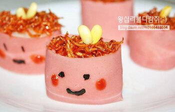 ★멸치주먹밥★ 밑바찬을 이용한 간단한 도시락 만들기/이쁜도시락만들기