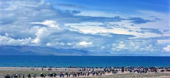 티벳 여행 추천지, 하늘과 맞닿은 '남쵸' 호수
