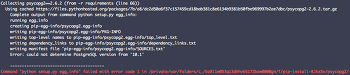 pip psycopg2 install error in mac