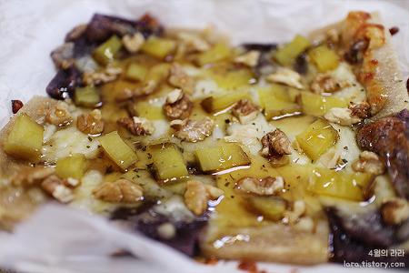피자만들기 :: 호두와 고구마말랭이가 들어간 떡피자