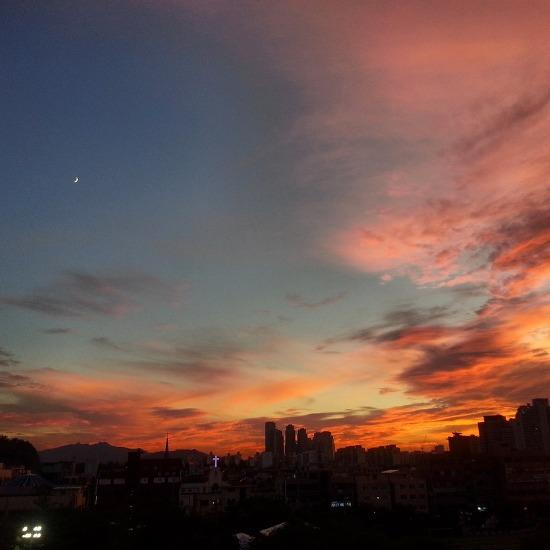 2014년 8월의 어느 하늘