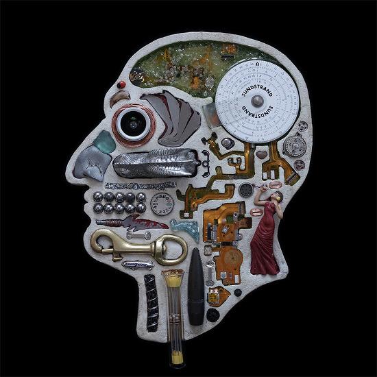 수집품으로 만든 뇌 해부도 Head 시리즈