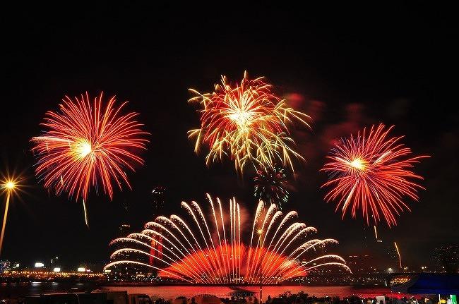 2013 세계불꽃축제-이촌한강지구 불꽃정면[2/2]