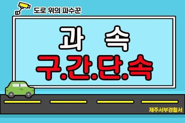 (도민, 관광객분들 주목^^) 제주도에서도 7월1일부터 과속 구간단속을 실시합니다!!