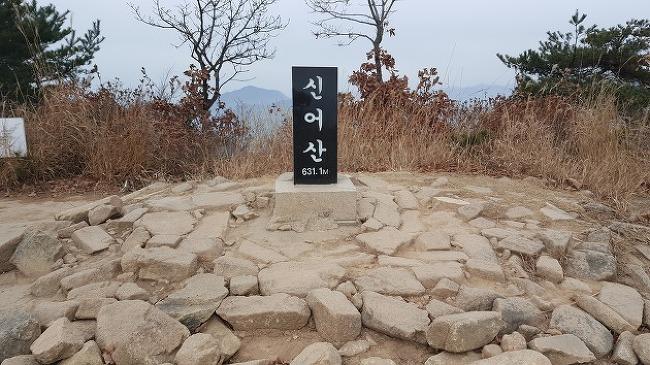 김해 신어산 늦가을 산행, 신어산 등산지도 (장..