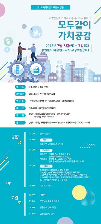 """【공지】 """"제3회 사회혁신가 포럼 in 강원"""" 개최"""