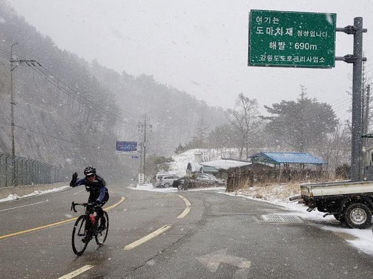 [주말라이딩] 4월 눈꽃라이딩 화악산,도마치재..