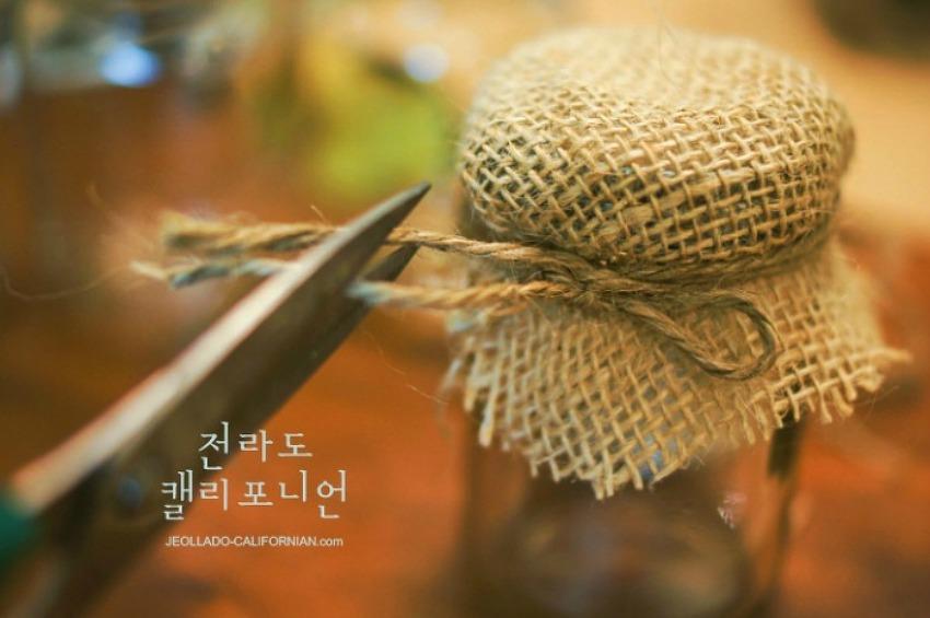빈티지 병 꾸미기 (잼, 케첩, 피클) 쉬운 데코레이션~