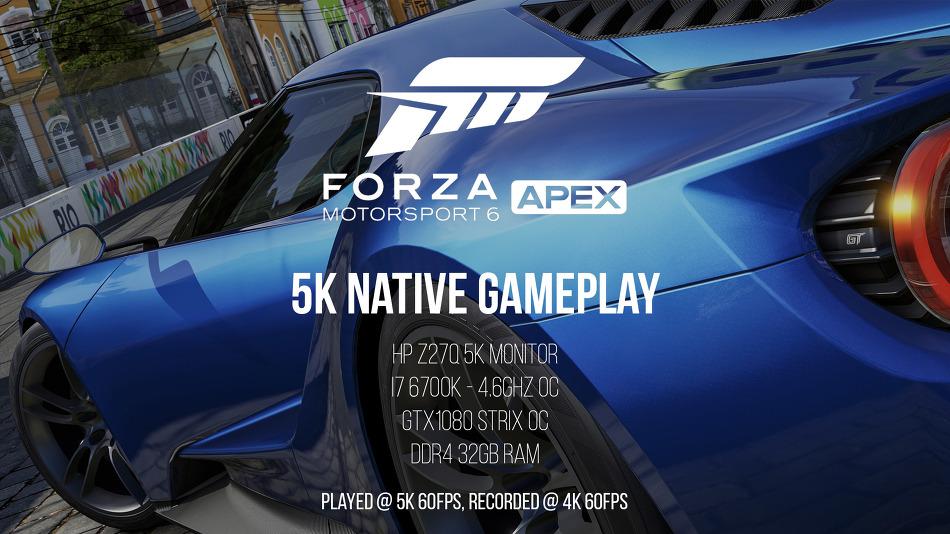 포르자 모터스포츠 6 APEX 5K 네이티브 게임 플레이