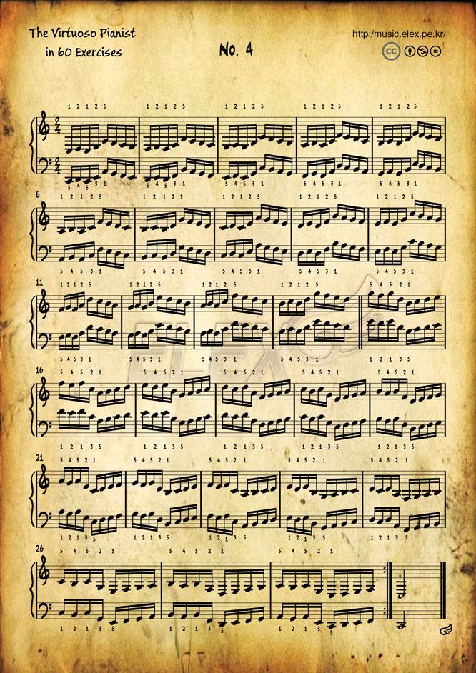 The Virtuoso Pianist in 60 Exercises #4
