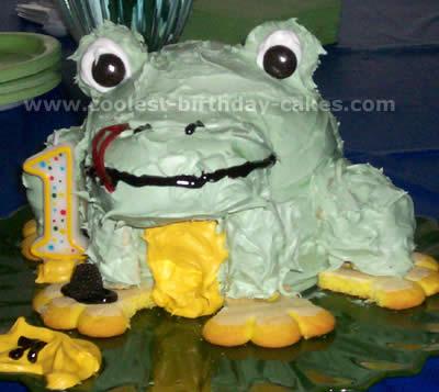 흉한 개구리 케이크