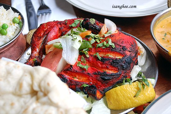 Tandoori Chicken. $10.95