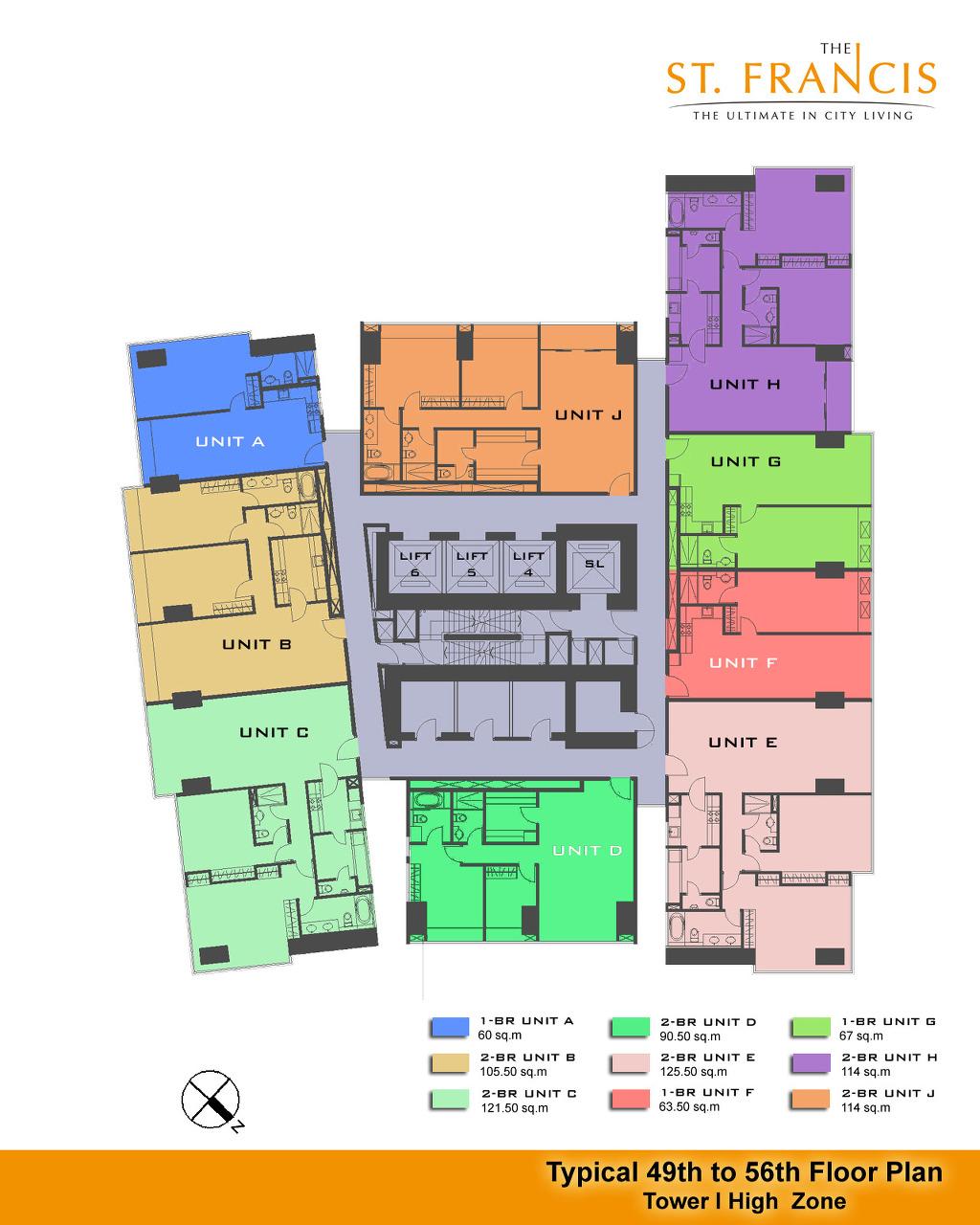 St fracis philippines manila makati fort bonifacio for Condominium plan