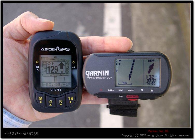 GPS755:129m, FR301:132m