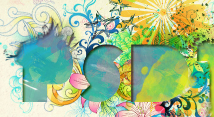 Dynamic Recessed Watercolor Typography in Photoshop