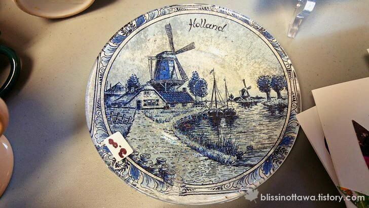 네덜란드 그림 접시