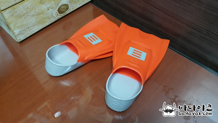 수영 오리발 숏핀 스노클링