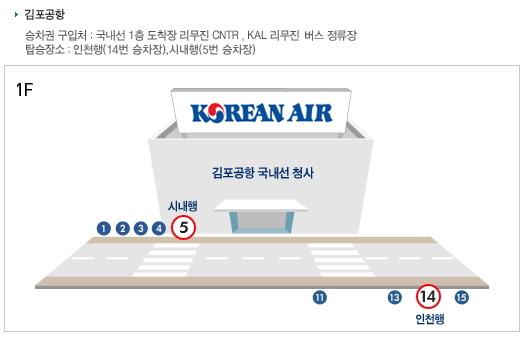 김포공항 승차 위치