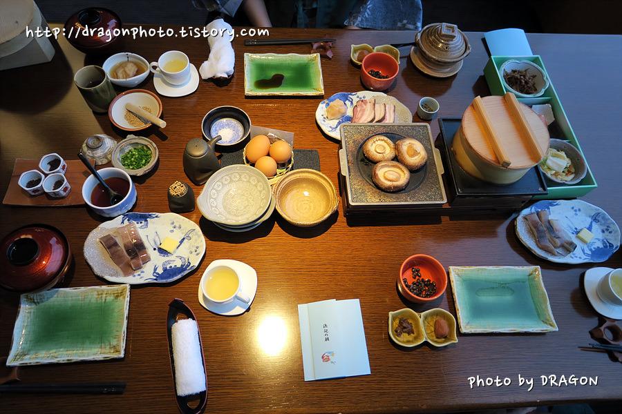 [북해도여행 10] 노보리베쓰 후루카와 료칸의 아침식사, 가이세키 요리