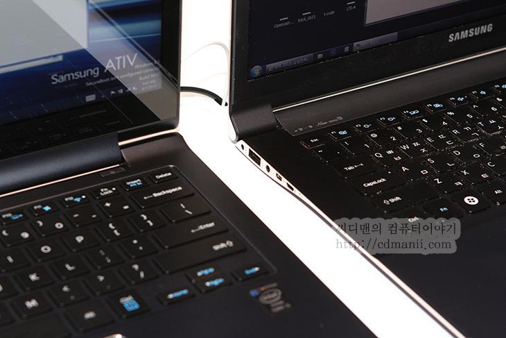 아티브북9 플러스, 아티브 북 9 플러스, 사용후기, 아티브북9 플러스 사용후기, 아티브북 9 플러스 사용후기, 사용기, 후기, 제품, 리뷰, IT, Review, 초고해상도, 3200x1800, 아티브북9 플러스 장점, 디스플레이, PLS, IPS, 시야각, 윈도우8.1, 아티브북9 플러스 사용후기를 직접 눈으로 IFA2013에 가서 보고 적어봅니다. 윈도우8.1 에서는 초고해상도를 정식으로 지원하게 되는됩니다. 이제 높은 해상도를 결국 낮춰서 쓰거나 확대해서 사용시 뭉개지는 문제가 없어진것이죠. 아티브북9 플러스 사용 후 느낀점은 윈도우 8.1의 시작과 동시에 엄청난 효과를 받을 수 있을거라는 확신이었습니다. 실제로 옆에 이전세대의 뉴시리즈9 노트북을 같이 놓고 화면을 보았는데 차이가 엄청나게 나더군요. 아티브북9 플러스 사용자들은 아마 이부분에 익숙해지면 이전 노트북을 못쓸지도 모릅니다. 실제로 애플 레티나 디스플레이에 익숙해진 분들도 다른 노트북을 쓸 때 화면에 느껴지는 거친 느낌때문에 못쓰겠다고 하는분들도 있는데요. 이제 아티브북9 플러스가 그부분을 매꿔주게 될겁니다. 그리고 이런 고해상도의 모니터를 사용한 노트북이 점점 많이 나오게 될겁니다. 이제 풀HD 해상도 탑제 모니터만으로는 큰 의미가 없어질지도 모릅니다.  윈도우8 그리고 아직은 많이 사용중인 윈도우7 이하 버전 모두 아직은 윈도우 운영체제 자체에서 높은 DPI의 UI를 자체적으로 제공하진 않았습니다. 이런 이유로 아무리 고해상도의 모니터가 나오더라도 실제 사용자는 글자가 너무 작아지는 이유로 해상도를 낮춰서 쓰거나 또는 배율을 확대해서 썼어야 했습니다. 하지만 이 때 문제가 해상도를 낮추면 글자가 뭉개지는 문제가 생기며 배율을 올리더라도 뭉개지는 문제와 일부 글자만 크게 보이는 어색한 화면이 자주 연출이 됩니다. 이런 이유로 결국 모니터의 사이즈에 맞춰서 적정 해상도를 선택하라는 말까지 있었는데요. 실제로 저 역시도 노트북을 권할 때 너무 높은 해상도의 모니터를 권하지 않기도 했었습니다.  하지만 윈도우8.1 부터는 높은 해상도에 대한 UI를 지원함에 따라서 높은 해상도의 모니터의 해상도를 그대로 사용하고 배율을 높이더라도 글자나 도형의 가장자리가 뭉개지지 않는 선명한 화면을 볼 수 있게 되었습니다. 이런 해상도를 재대로 지원하는 첫 노트북이 아티브북9 플러스가 될 것 입니다. 노트북을 만져볼 수 록 저는 너무 갖고 싶다는 생각 뿐이었는데요. 그전에도 소개해드린 뉴시리즈9 자세한 리뷰편에서 이 노트북이 얼마나 괜찮은 노트북인지 소개해드린적이 있는데 그 노트북의 장점을 그대로 가져오고 몇가지 장점을 더 붙인 노트북이므로 상당히 매력적입니다. 그럼 이번편에서는 아티브 북 9 플러스의 장점과 아쉬운 단점에 대해서 살펴보도록 하겠습니다.