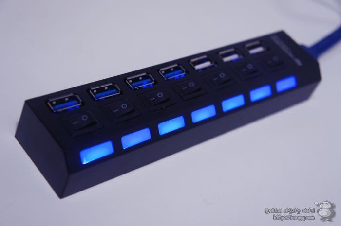 노벨뷰, 7포트, USB 허브, 후기, 테스트
